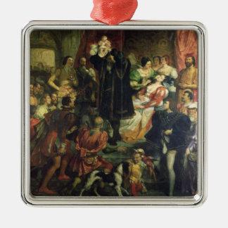 El nacimiento de Enrique IV (1553-1610) en el Adorno Cuadrado Plateado