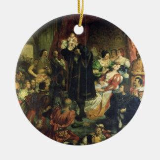 El nacimiento de Enrique IV (1553-1610) en el Adorno Redondo De Cerámica