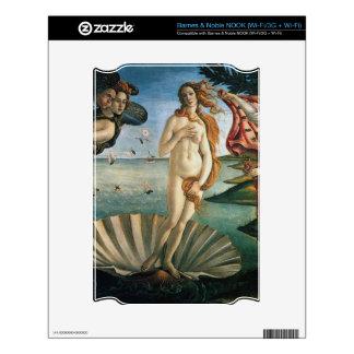 El nacimiento de la piel de Venus Calcomanía Para NOOK