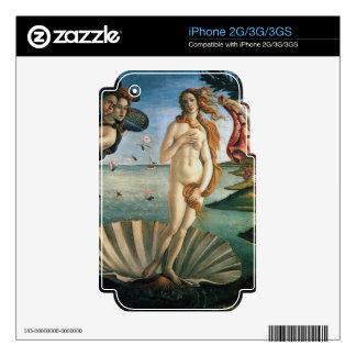El nacimiento de la piel de Venus iPhone 2G Calcomanía