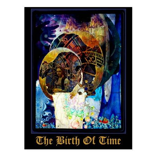 El nacimiento de la postal del tiempo por Whimzwhi