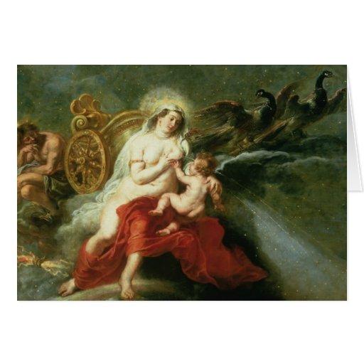 El nacimiento de la vía láctea, 1668 tarjeta de felicitación