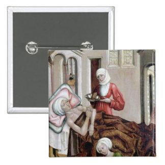 El nacimiento de St. John el Bautista Pin Cuadrada 5 Cm