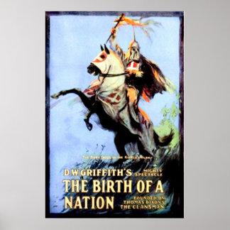 El nacimiento de un cartel de película 1915 del vi posters