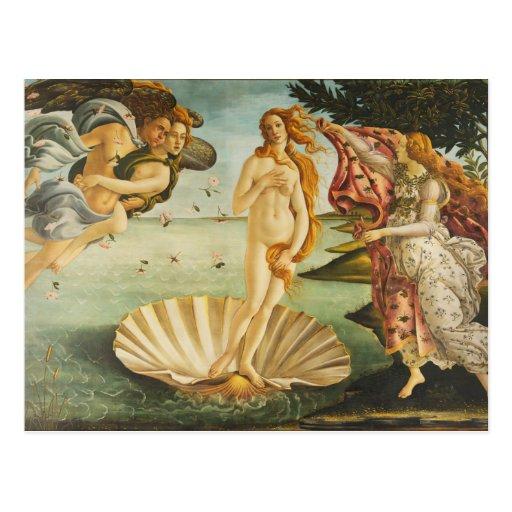 El nacimiento de Venus (1483 - 1485) Sandro Bottic Tarjeta Postal