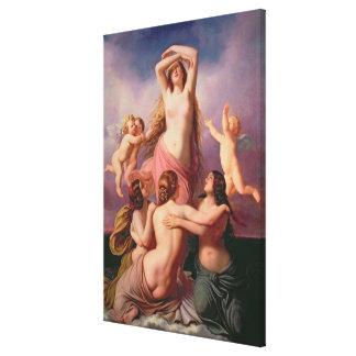 El nacimiento de Venus, 1846 Lienzo Envuelto Para Galerias
