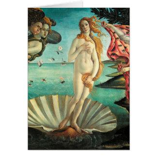 El nacimiento de Venus - arte clásico por Tarjeta De Felicitación