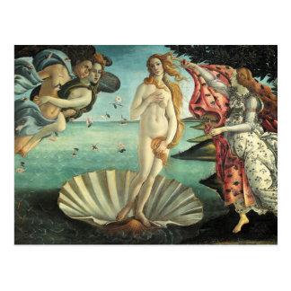 El nacimiento de Venus - arte clásico por Postal