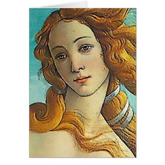 El nacimiento de Venus - ascendente cercano Tarjeta De Felicitación