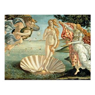 El nacimiento de Venus, c.1485 (tempera en lona) Tarjeta Postal