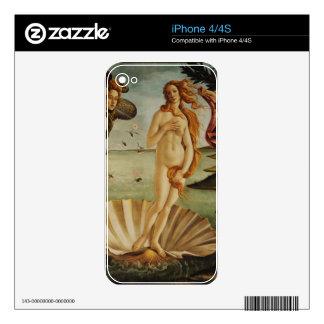 El nacimiento de Venus de Sandro Botticelli Calcomanías Para El iPhone 4S