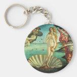 El nacimiento de Venus de Sandro Botticelli Llavero Redondo Tipo Pin