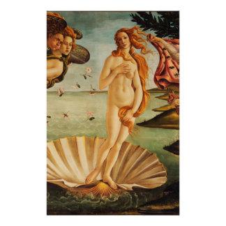 El nacimiento de Venus de Sandro Botticelli Papeleria Personalizada