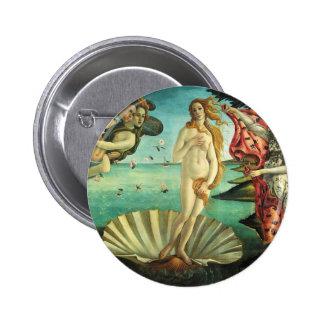 El nacimiento de Venus de Sandro Botticelli Pin Redondo 5 Cm