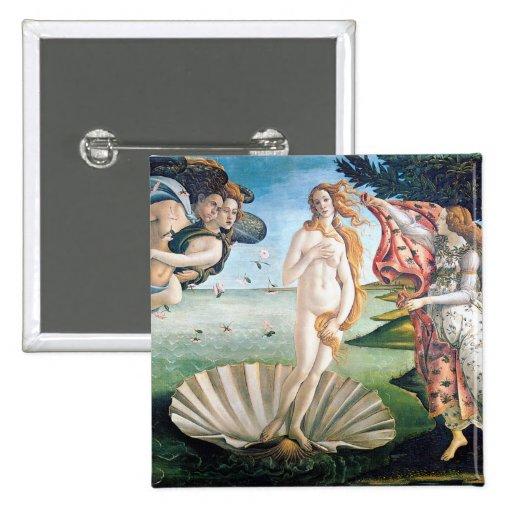 El nacimiento de Venus de Sandro Botticelli Pins
