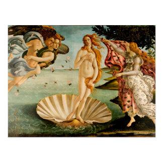 El nacimiento de Venus el | Botticelli Tarjetas Postales