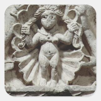 El nacimiento de Venus (piedra caliza) Colcomanias Cuadradas Personalizadas