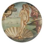 El nacimiento de Venus Platos De Comidas
