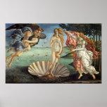 El nacimiento de Venus por Botticelli, arte Póster