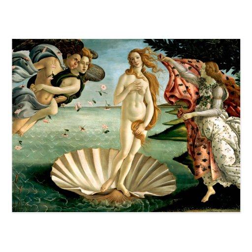 El nacimiento de Venus por Botticelli Postales