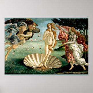 El nacimiento de Venus por Botticelli Póster