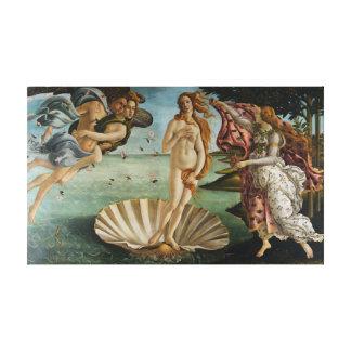 El nacimiento de Venus (por Sandro Botiicelli) Impresión En Lienzo Estirada