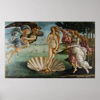 El nacimiento de Venus (por Sandro Botiicelli) Posters