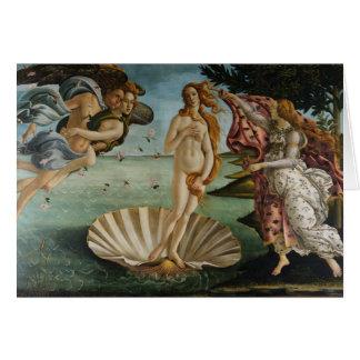 El nacimiento de Venus (por Sandro Botiicelli) Tarjeta De Felicitación