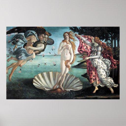 El nacimiento de Venus Póster