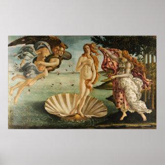 El nacimiento de Venus Sandro Botticelli que pinta Posters