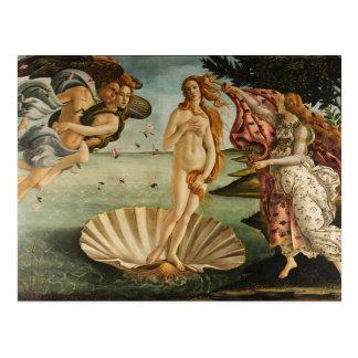 El nacimiento de Venus Tarjeta Postal