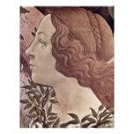 El nacimiento del detalle de Venus de Botticelli S Membrete Personalizado