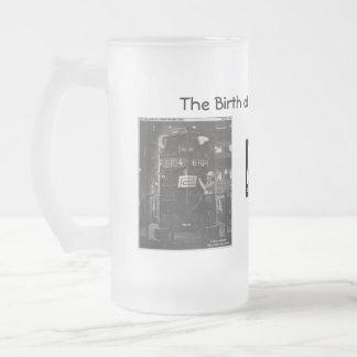 El nacimiento del ferrocarril de la central de jarra de cerveza esmerilada