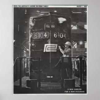 El nacimiento del ferrocarril de la central de póster