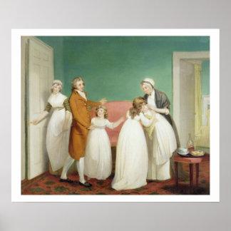 El nacimiento del heredero, c.1799 (aceite en lona póster