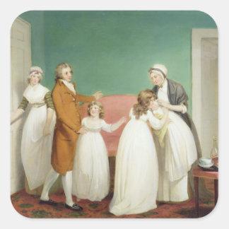 El nacimiento del heredero, c.1799 (aceite en calcomanias cuadradas