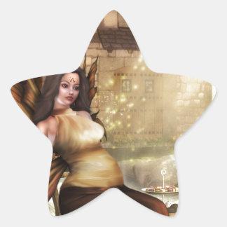 El nacimiento pegatina en forma de estrella