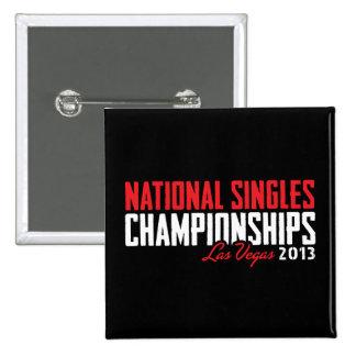El nacional escoge los campeonatos Las Vegas 2013 Pin Cuadrado