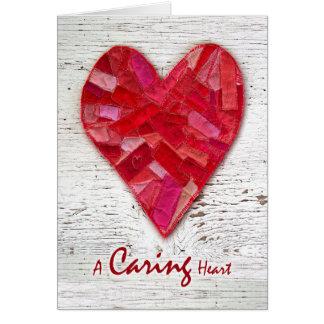 El nacional feliz cuida la semana, corazón cosido tarjeta de felicitación