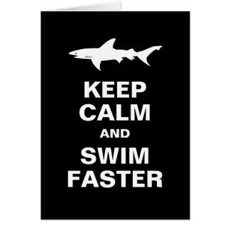 El nadador o la persona que practica surf tarjeta de felicitación