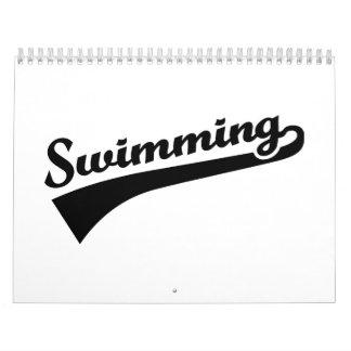 El nadar calendario de pared