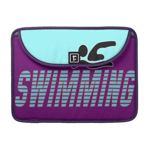El nadar con el nadador fundas macbook pro