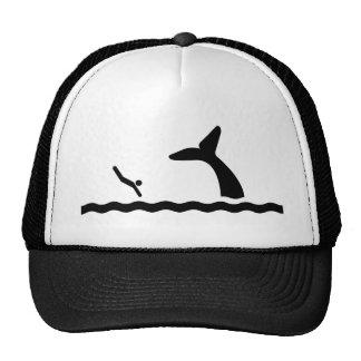 El nadar con las ballenas gorros