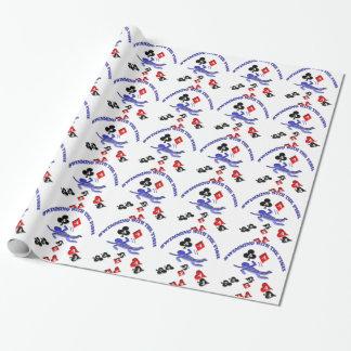 el nadar con los pescados papel de regalo