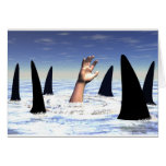 El nadar con los tiburones felicitacion