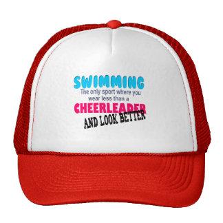 El nadar contra animar gorra