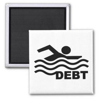 El nadar en deuda imán cuadrado