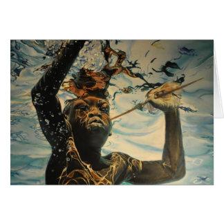 El nadar en la tarjeta de felicitación de África d