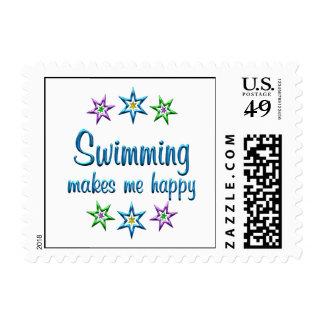 El nadar feliz