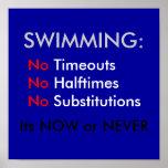 El nadar impresiones